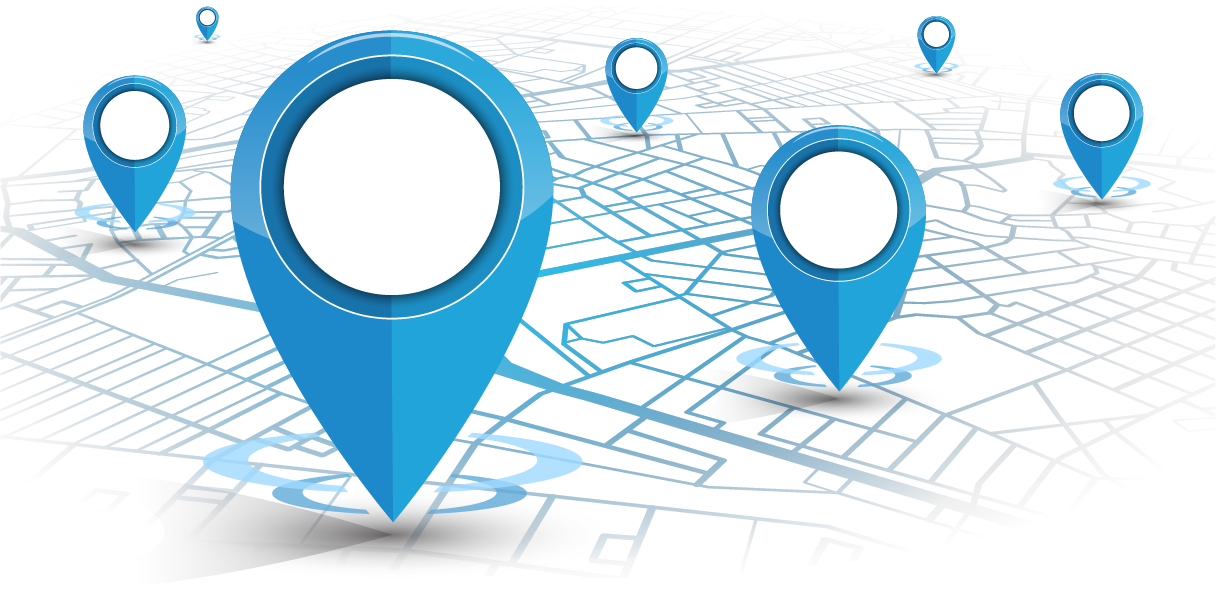 icons showing geo location for local seo